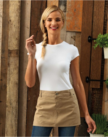COTTON 'CHINO' WAIST APRON